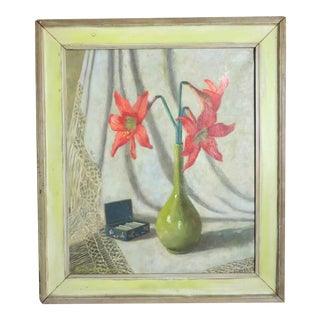 Flowers Oil Painting on Canvas For Sale