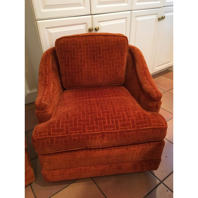 Mid-Century Barrel Swivel Chairs - A Pair - Image 3 of 8