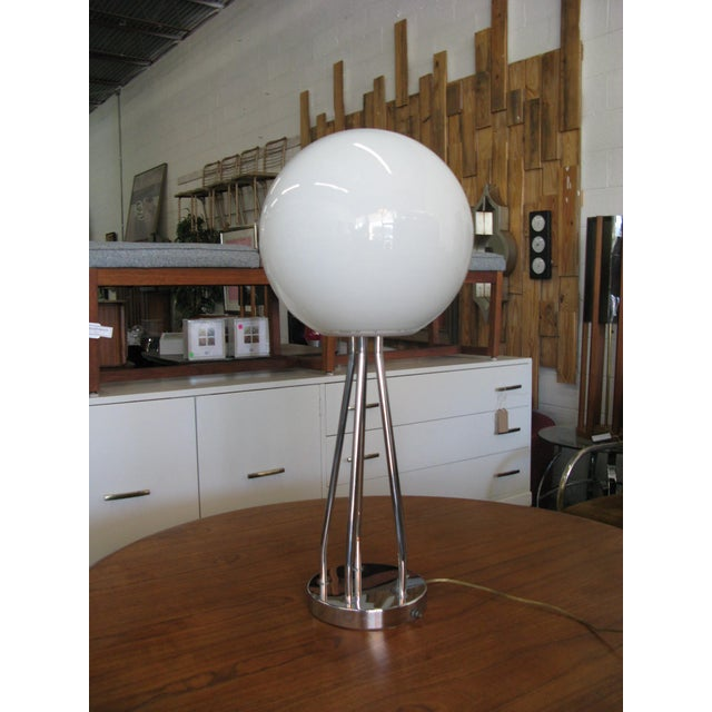 Mid-Century Modern Chrome Table Lamp - Image 9 of 11