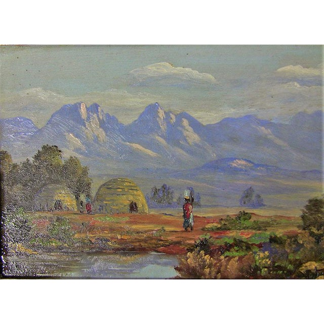 African 20c Pair of Oil on Boards by Percy Wort of Natal South African Scenes For Sale - Image 3 of 8