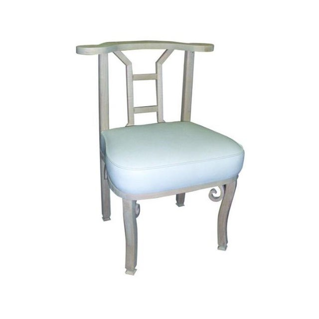 """White Custom to Order """"Handcrafted Furniture"""" Collection Chair For Sale - Image 8 of 8"""