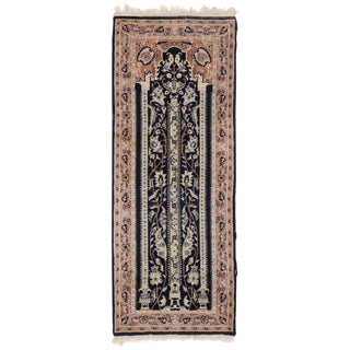 20th Century Pakistani Persian Style Mihrab Prayer Rug - 2′1″ × 5′4″ For Sale