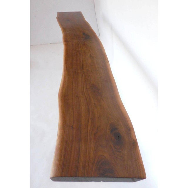 Wood Dos Gallos Studio Black Walnut Console With Iron Legs For Sale - Image 7 of 9