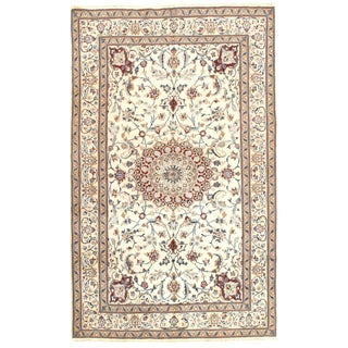 Vintage Genuine Nain Area Rug - 5′ × 8′2″ For Sale