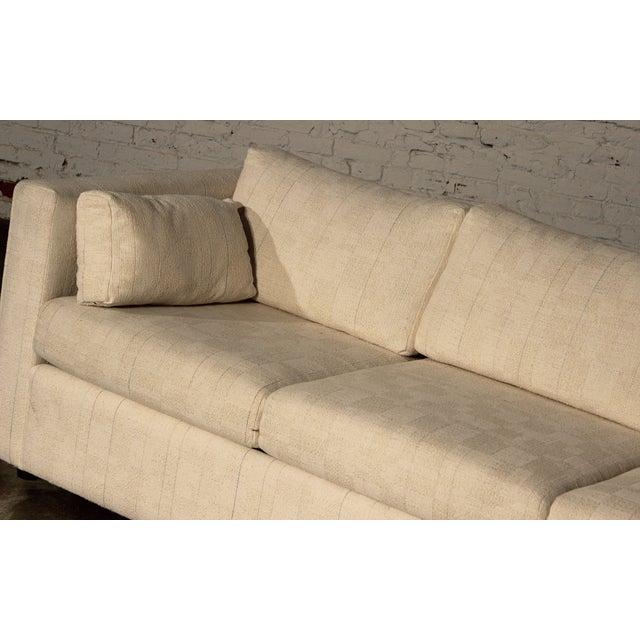 Mid-Century White Tuxedo Style Sleeper Sofa - Image 6 of 7