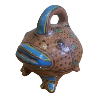 Early 20th Century Talavera Fish Bank For Sale