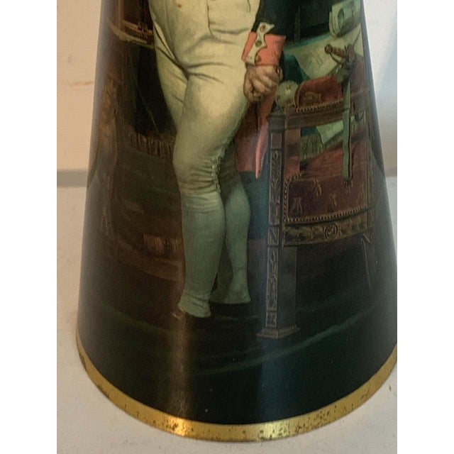 French Bronze Lamp, Enameled With Emperor Napoleon in His Study at the Tuileries For Sale - Image 10 of 12