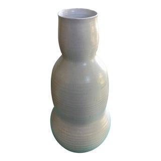 White Chinese Ceramic Accent Vase