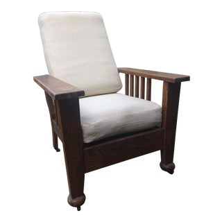 """Vintage Mission-Style Oak """"Morris"""" Reclining Chair For Sale"""