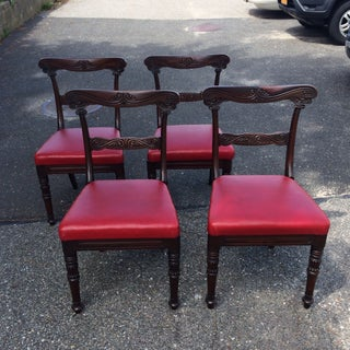 Anglo Indian Carved Dining Chairs - Set of 4 Preview
