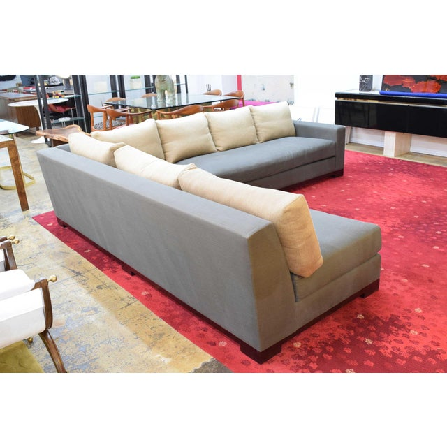 """Contemporary Christian Liaigre """"Ocean"""" Sectional Sofa For Sale - Image 3 of 12"""