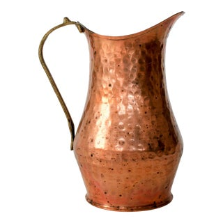 Vintage Solid Copper Pitcher