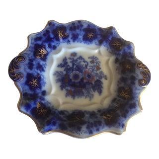 Flow Blue Ironstone Serving Platter For Sale