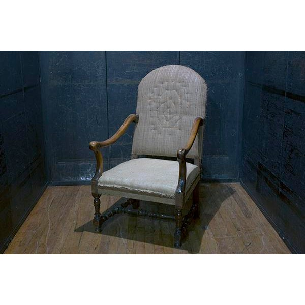Mid 18th Century Italian Walnut Fauteuil Chair For Sale - Image 4 of 4