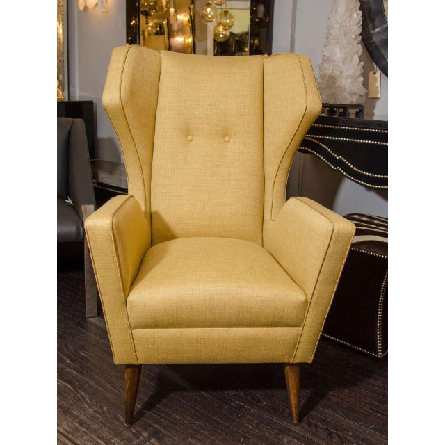 Venfield Custom Modernist Armchair and Ottoman For Sale - Image 4 of 10