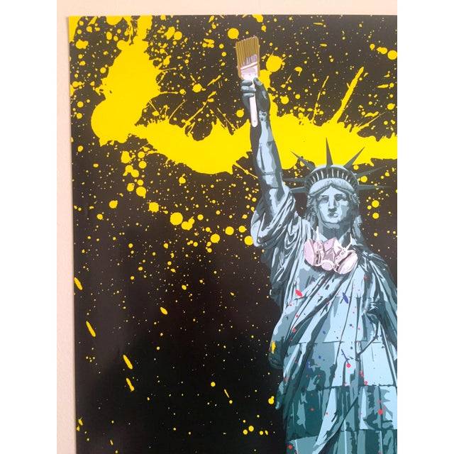 "Mr. Brainwash "" Statue of Liberty "" Authentic Lithograph Print Pop Art Poster For Sale In Kansas City - Image 6 of 12"