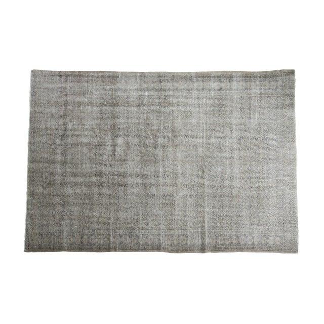 "Distressed Oushak Medallion Carpet - 6'5"" x 9'7"" - Image 1 of 5"