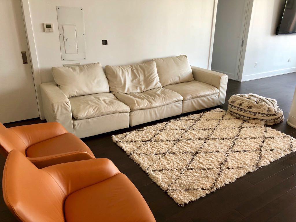 Modern Restoration Hardware Cloud Modular Leather Sectional Sofa For Sale    Image 3 Of 4