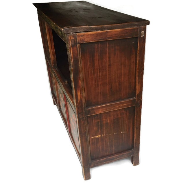 Vintage Chinese Tibetan Cabinet For Sale - Image 9 of 13