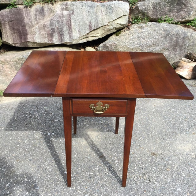 Cherry Drop Leaf End Tables - A Pair - Image 3 of 11
