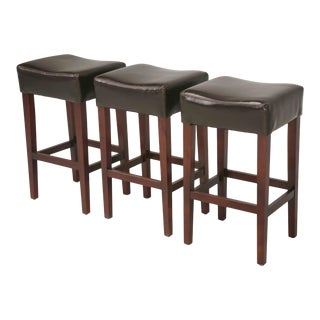 Contemporary Leather Bar Stools For Sale
