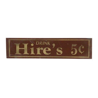 Vintage Hire's Root Beer Sign For Sale