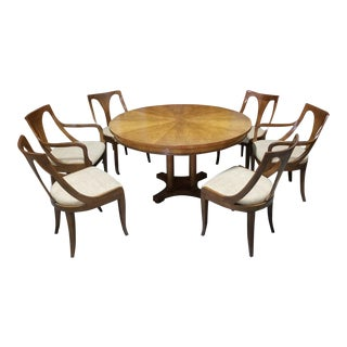 1950's Baker Furniture Palladian Collection Dining Furniture-Set of 7 For Sale