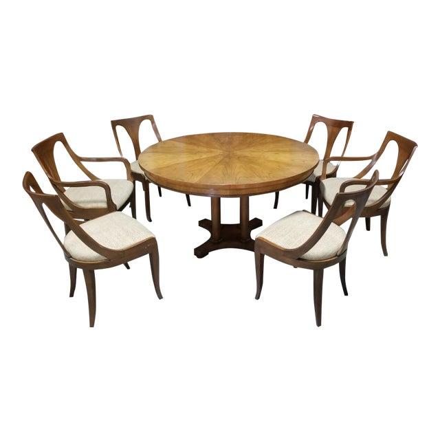 1950's Baker Furniture Palladian Collection Dining Furniture-Set of 7 For Sale