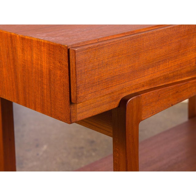 1960s Ib Kofod Larsen Teak Console Table for Faarup For Sale - Image 5 of 11