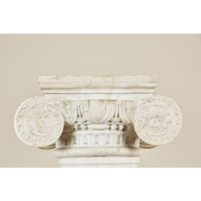 19th Century Italian Carved Marble Column - Image 7 of 9