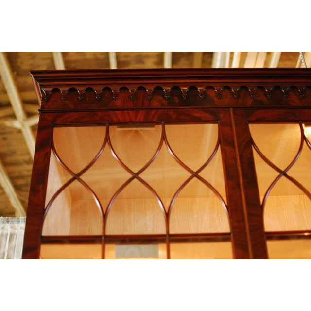 Historical George III Mahogany Display Cabinet Bookcase For Sale In San Francisco - Image 6 of 10