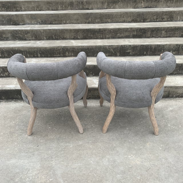 1970s Faux Bois Bergere Accent Chairs - a Pair For Sale - Image 9 of 11
