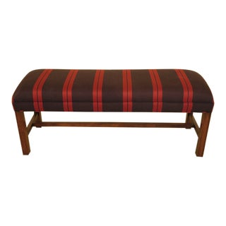 Chippendale Style Stretcher Base Window Bench