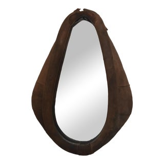 Antique Leather Horse Collar Mirror For Sale