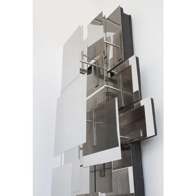Polished Steel Wall-Light Sculpture or Sconce Attr. Reggiani For Sale In Chicago - Image 6 of 11