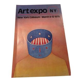 Vintage Art Expo New York Folon Poster For Sale