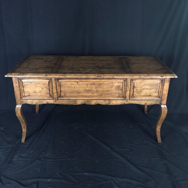 Wood Country French Provincial Desk by Guy Chaddock For Sale - Image 7 of 13