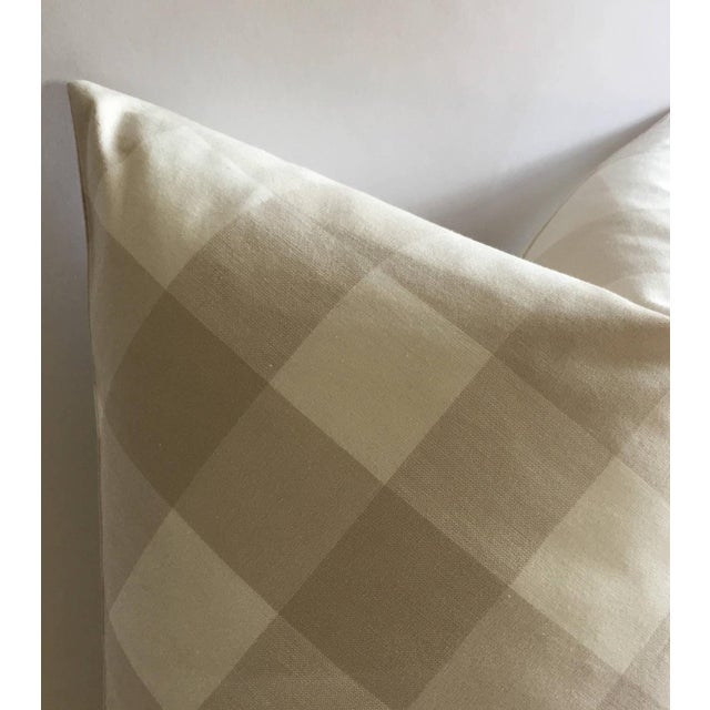 Diagonal Beige & Cream Plaid Pillow Cover - Image 5 of 6
