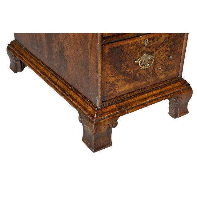 Metal George II Style Walnut Pedestal Desk For Sale - Image 7 of 12