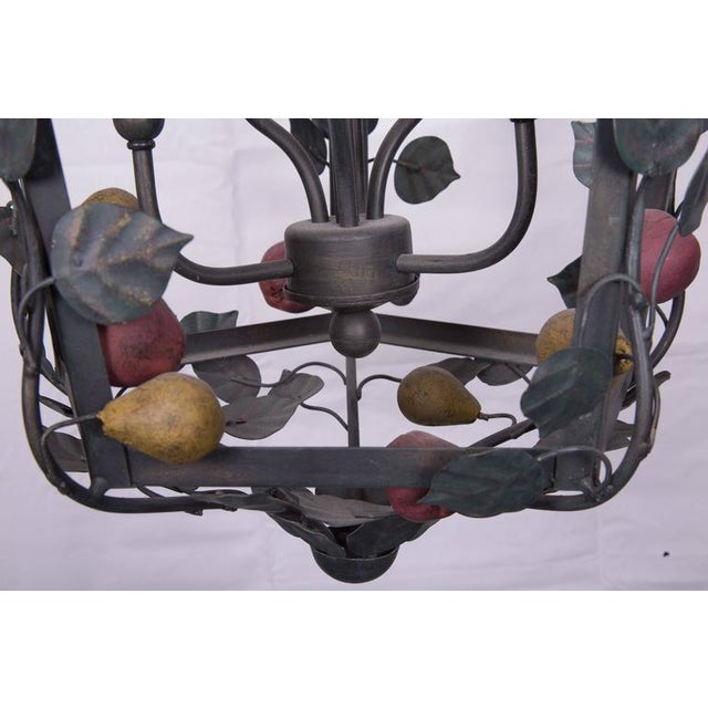 Italian Italian Polychrome Lantern Garnished with Fruits and Vines For Sale - Image 3 of 5
