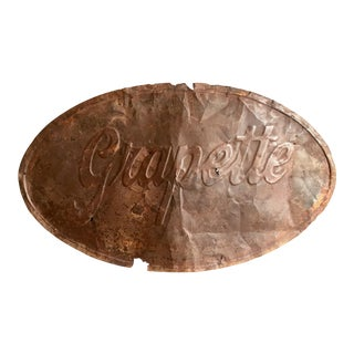 Vintage Grapette Oval Metal Sign