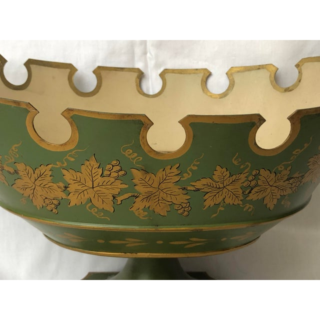 We are proud to offer this beautiful French Neoclassical Tole Footed Monteith Bowl, Compote, Chillers. Called in France,...