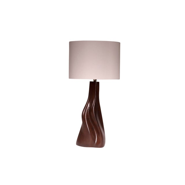 Brown Nectar Table Lamp - Dark Brown For Sale - Image 8 of 8