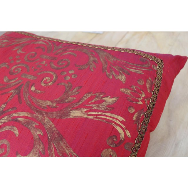 Isabelle H. Fortuny Style Hand-Painted Cherry Pillow Cover For Sale - Image 5 of 8