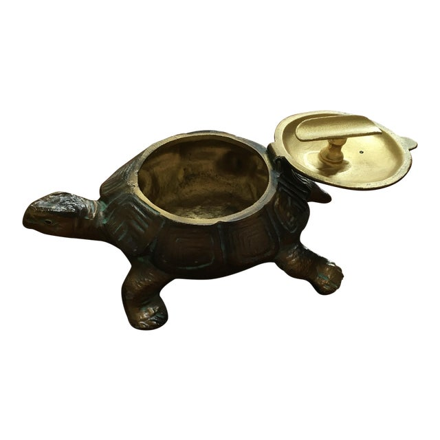 Austrian Gilt Metal Turtle Ashtray - Image 1 of 7