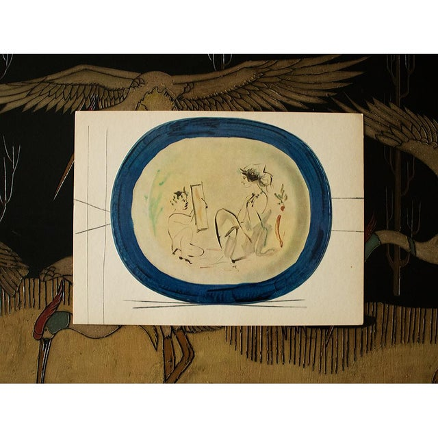 Pablo Picasso 1955 Pablo Picasso Satyr and Young Woman Ceramic Plate, Original Period Swiss Lithograph For Sale - Image 4 of 6