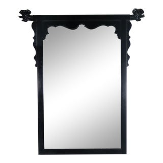 Vintage Chin Hua Ebonized Mirror by Raymond K. Sobota for Century Furniture For Sale