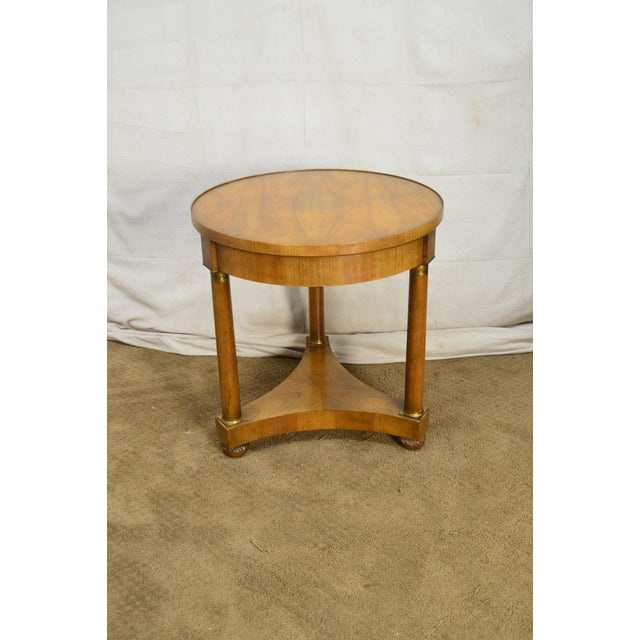 Baker Vintage French Empire Style Gueridon Round Side Table For Sale In Philadelphia - Image 6 of 13