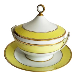 Italian Richard Ginori Yellow Tureen For Sale