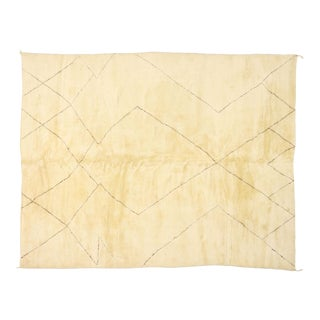 Contemporary Moroccan Rug With Mid-Century Modern Style - 10'02 X 12'10 For Sale